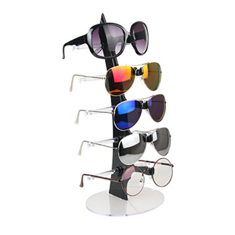Fashion Design 5 Pairs Sunglasses Eye Glasses Frame Rack Eyewear Holder Display Stand Jewelry Display Necklace Holder