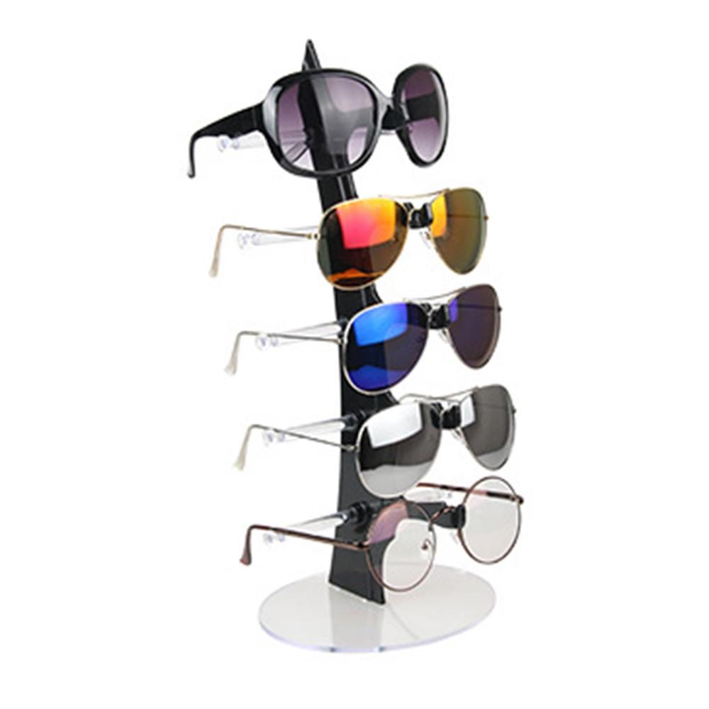 Fashion Design 5 Pairs Sunglasses Eye Glasses Frame Rack Eyewear Holder Display Stand Jewelry Display Necklace Holder