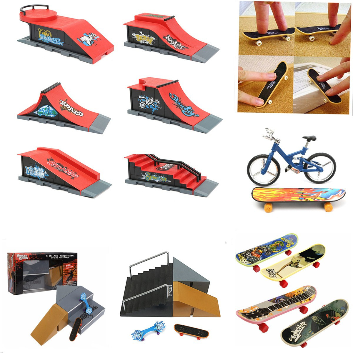 1PC Kids Children Mini Finger Board Fingerboard Skate Boarding Toys Gifts Creative DIY Handicraft