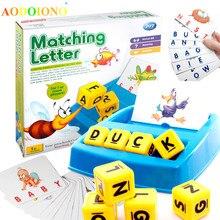 Обучающая забавная игра семейное развлечение подходящая игра с буквами Обучающие игрушки английское слово ABC Головоломка Развивающие игрушки для детей подарок для детей