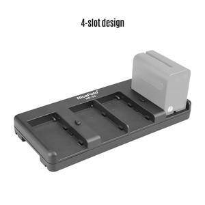 Image 3 - NiceFoto NP 04 NP F Batterij V Mount Batterij Converter Adapter Plaat 4 slot voor Sony NP F970 Batterij voor LED Video Licht