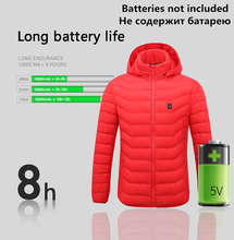 цены Hot Mens Winter Heated USB Hooded Work Jacket Coats Adjustable Temperature Control Safety Clothing Workplace Safety Supplies