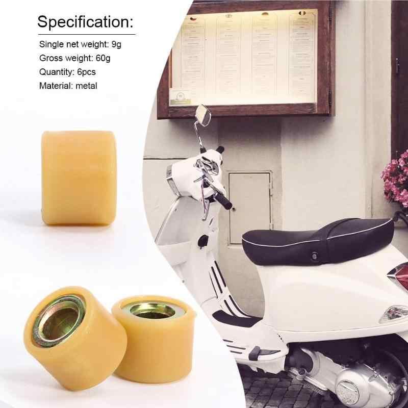 6 Pcs Logam Variator Roller Mesin Skuter Sunny Keeway Scooter untuk GY6 125CC 150CC Bagian ATV Universal Sendi & Poros Penggerak