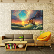 AAVV Poster and Paint Paper Boat and Paper Plane Painting Home Decorative Art Picture on Canvas Prints for Living Room No Frame(China)