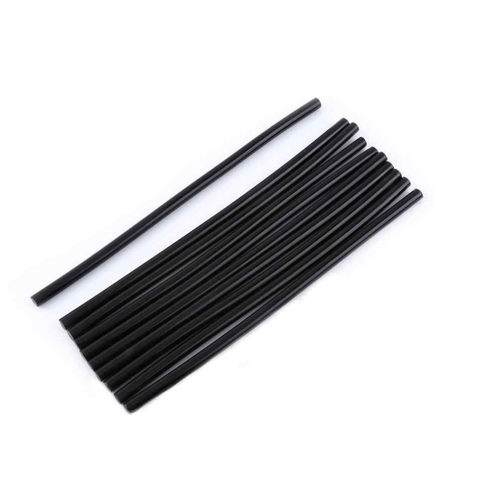 10 adet/takım 7mm 11mm sıcak tutkal çubukları için siyah tutkal DIY sopa 20cm uzunluk elektrik güç araçları 1