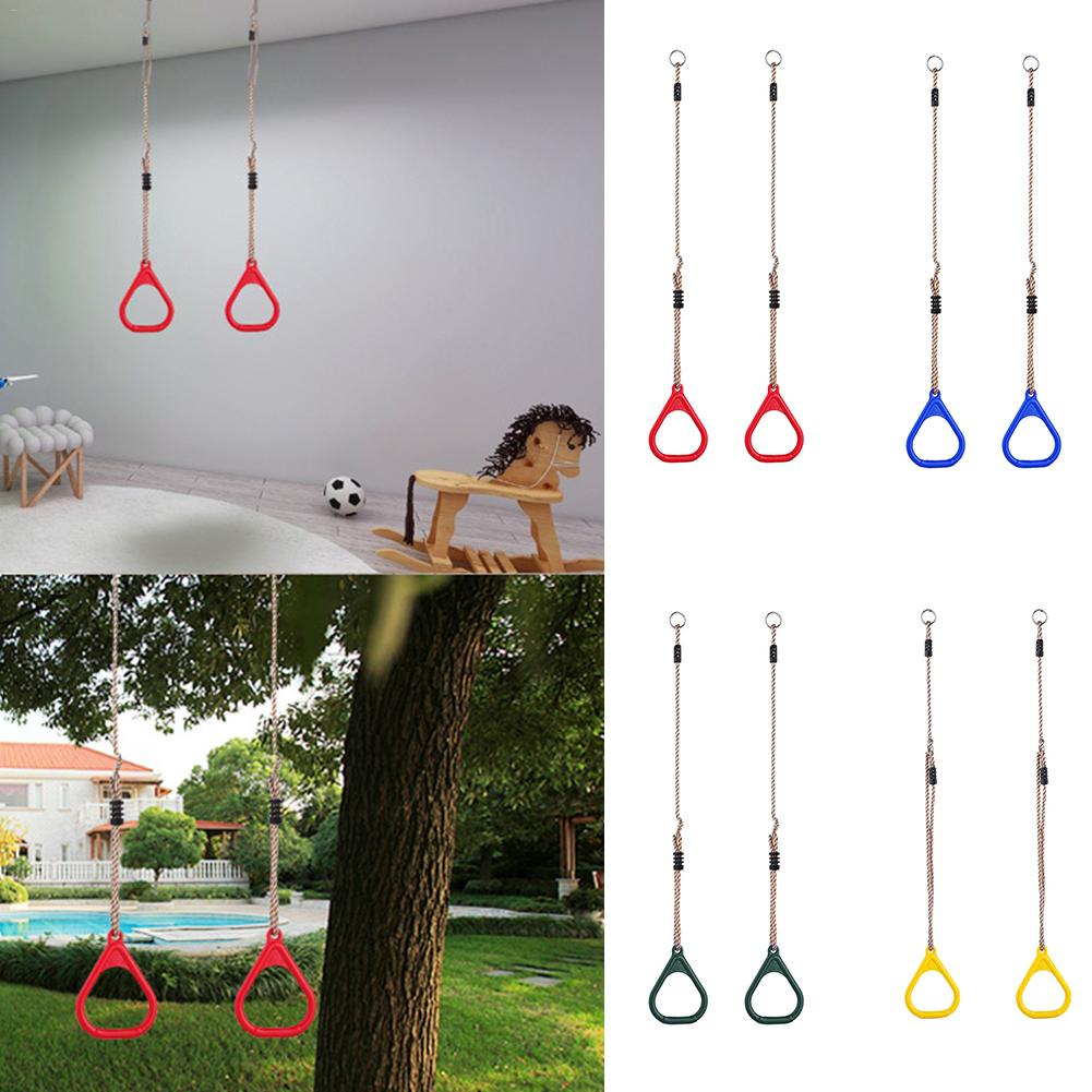 Kids Children Game Playground Flying Gym Rings Pull Up Ring Fitness Sports & Outdoor Indoor Pull-ups Gym Swing Games Equipment