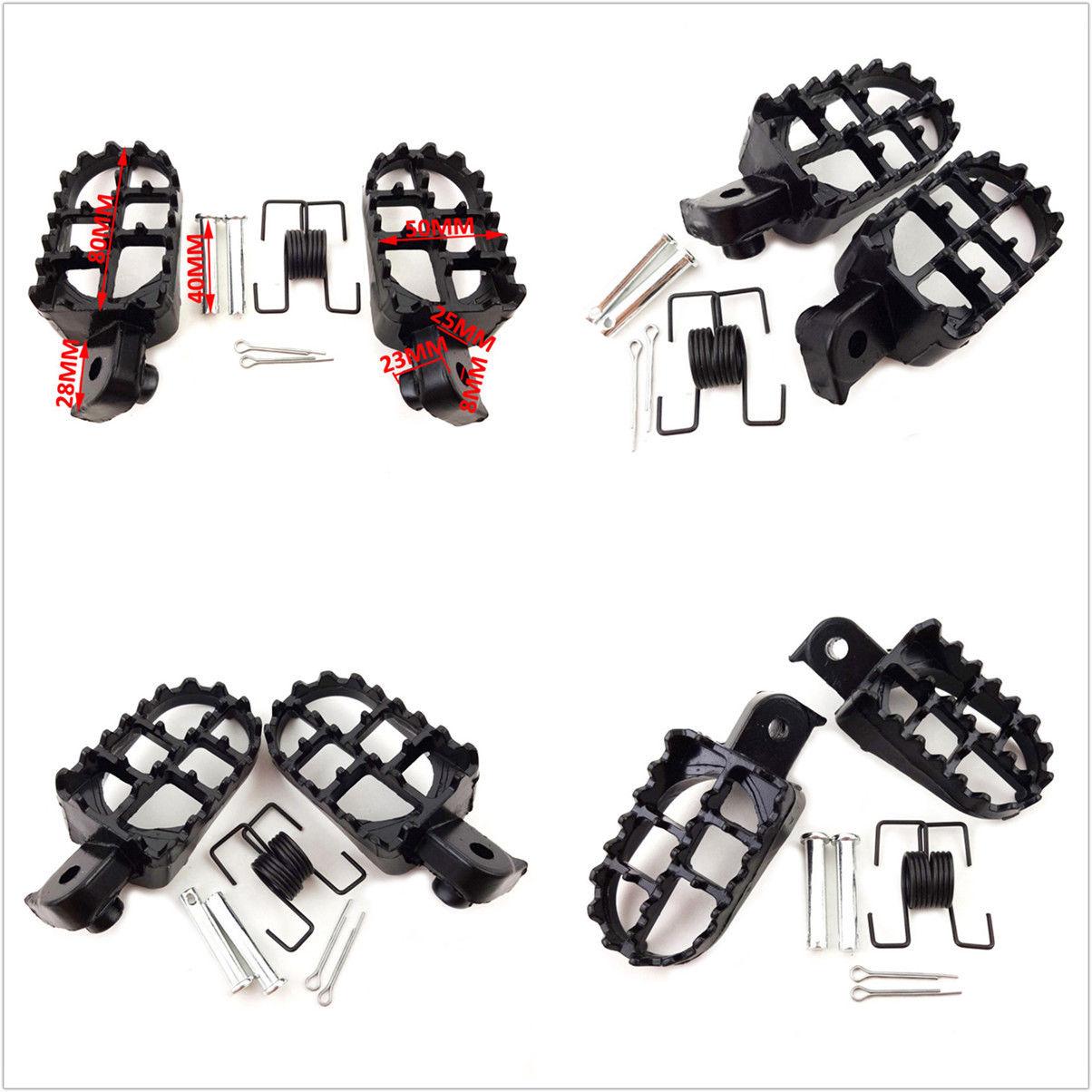 2 Pcs Black Brand New And High Quality Motocross Bike Racing Foot Pegs Aluminium Pedal Pads MX Racing Style Design