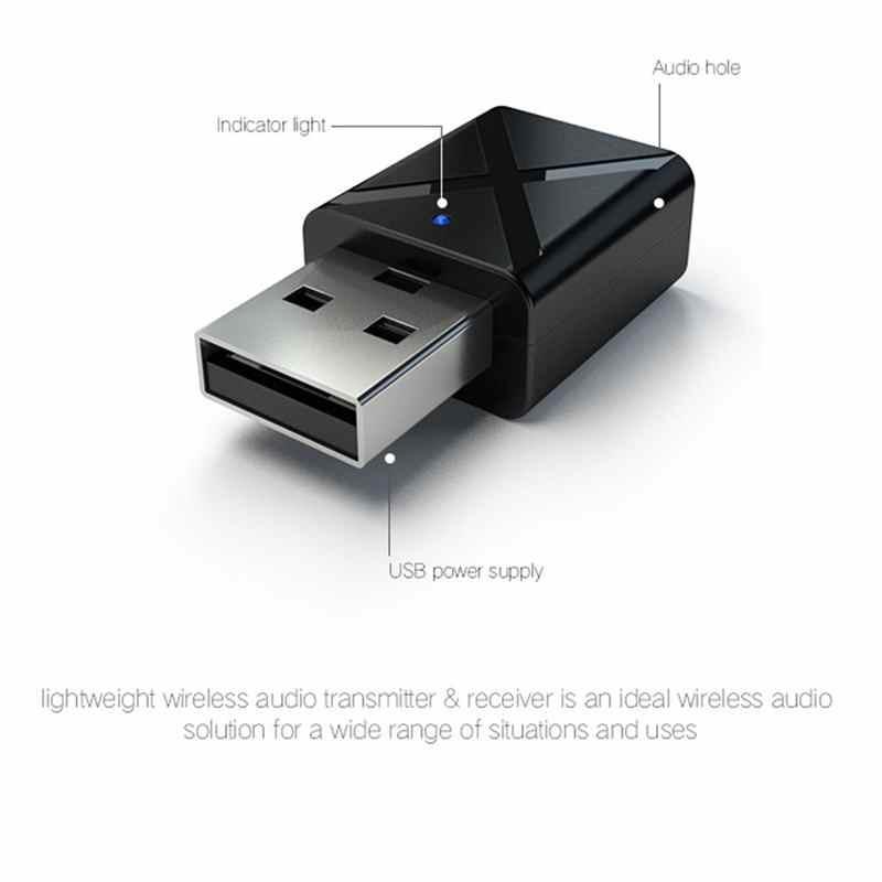 Mini Bluetooth 5.0 Audio récepteur émetteur 3.5Mm Aux adaptateur sans fil pour voiture Pc Tv haut-parleur casque Usb puissance