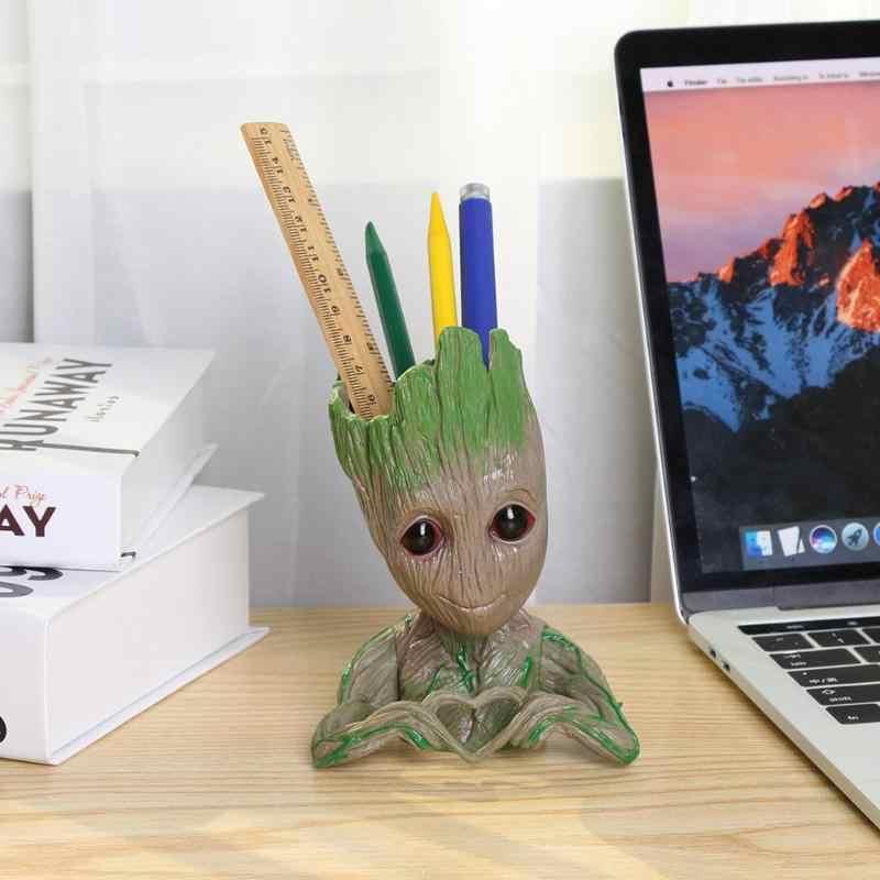 PVC Baby Groot Bloempot Bloempot Planter Actiefiguren Boom Man Leuke Model Speelgoed Pen Pot Tuin Bloempot Planter