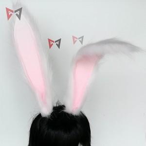 Image 4 - 新しいウサギ王国コスプレカーニバルゴシックロリータや入浴の供給キツネ耳の毛のフープ帽子ガール女性子供手作業