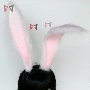 Image 4 - Neue Kaninchen Königreich Cosplay Carnaval Gothic Lolita Acessories Fuchs Ohr Haar Hoop Headwear Für Mädchen Frauen Kinder Hand Arbeit