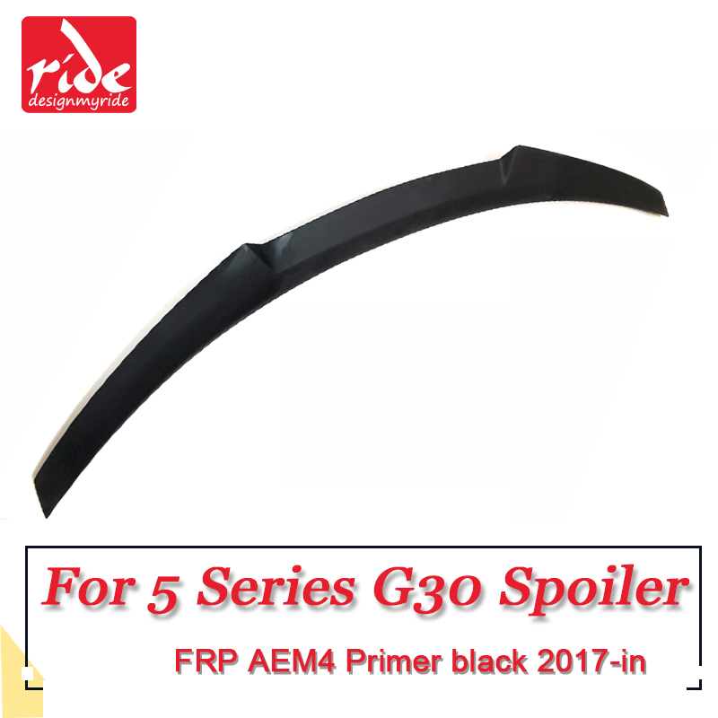G30 Rear Trunk Wing Spoiler AEM4 Style FRP Unpainted for BMW G30 528i 530i 535i 540 550i Tail Trunk Lid Boot Lip Wing 2017 2018 in Spoilers Wings from Automobiles Motorcycles