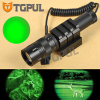 Greenbase Tactical Gun Flashlight Combo Scope Green Laser Weapon Light Night Vision Hunting for Rifle Pistol fit Rail Picatinny