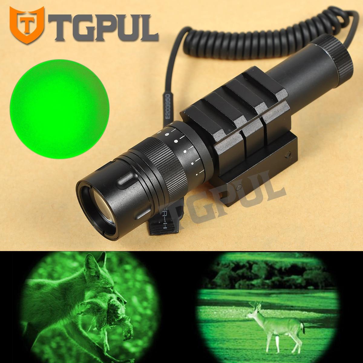 Greenbase Tactique Gun lampe de Poche Combo Portée Vert Laser Arme Légère vision nocturne Chasse pour Fusil Pistolet fit Rail Picatinny