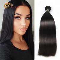 Onicca Remy Straight Hair Bundles Brazilian Hair Weave Bundles 8 to 30 Inches Human Hair Extension Natural Color