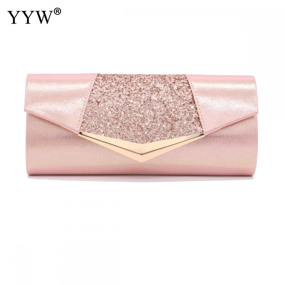 Fashion Crystal Sequin Evening Clutch Bags For Women 2018 Party Wedding Clutches Purse Female Pink Silver Wallets Bag Women bags