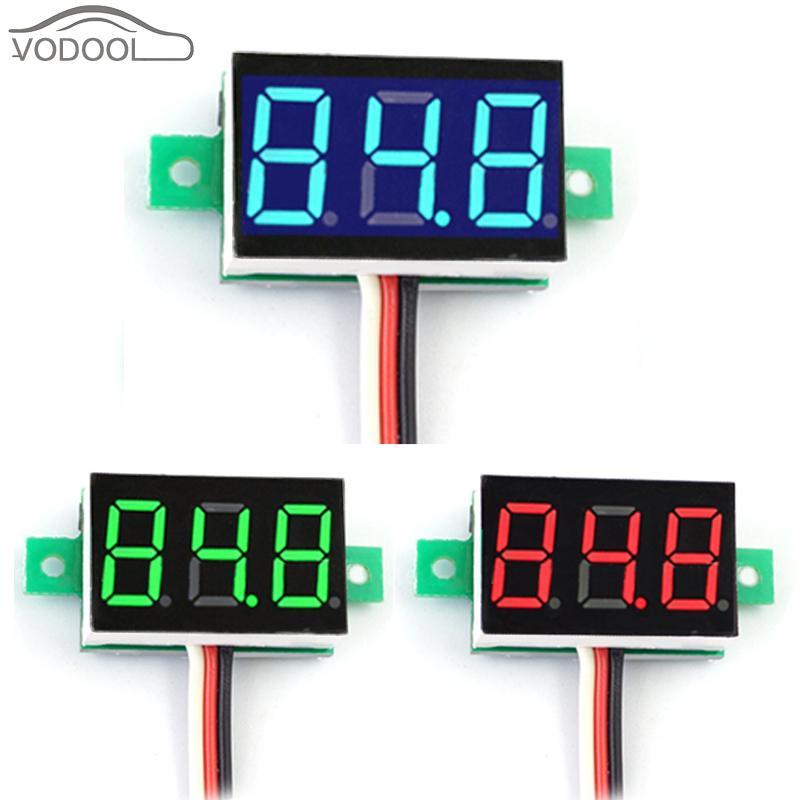 """0,36 """"DC 0-100 В Мини цифровой вольтметр светодио дный свет Напряжение метр с 3 провода обратное подключение защиты"""