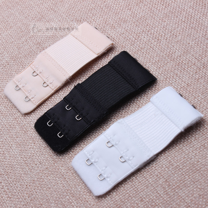 3 Pcs 2 Rows 2 Hooks  Bra Extenders Set Ladies Clasp Strap Women Bra Strap Extender 3 Colors Black White  Nude  Free Shipping