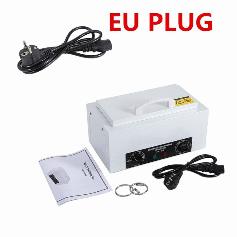 Stérilisateur haute température EU PLUG pour outils à ongles désinfection à Air chaud avec réservoir amovible en acier inoxydable outil à ongles en métal HWC