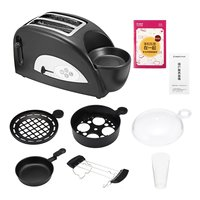 Multifunctional 2 in 1 Stainless Steel 2 Slices Bread Toaster Electric Eggs Cooker Breakfast Maker Household Oven Machine 1200W