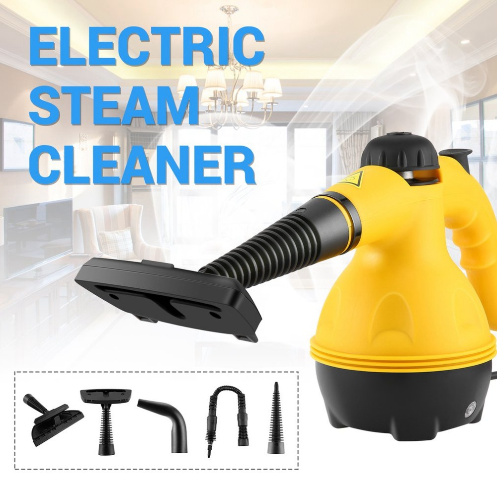 New Hot Eu Plug Multi Purpose Electric Steam Cleaner Portable Handheld Steamer Household Cleaner Attachments Kitchen Brush Too in Steam Cleaners from Home Appliances