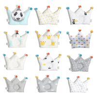 New Baby Shaping Pillow Prevent Flat Head Infants Crown Dot Bedding Pillows Newborn Boy Girl Decoration Accessories 0-24