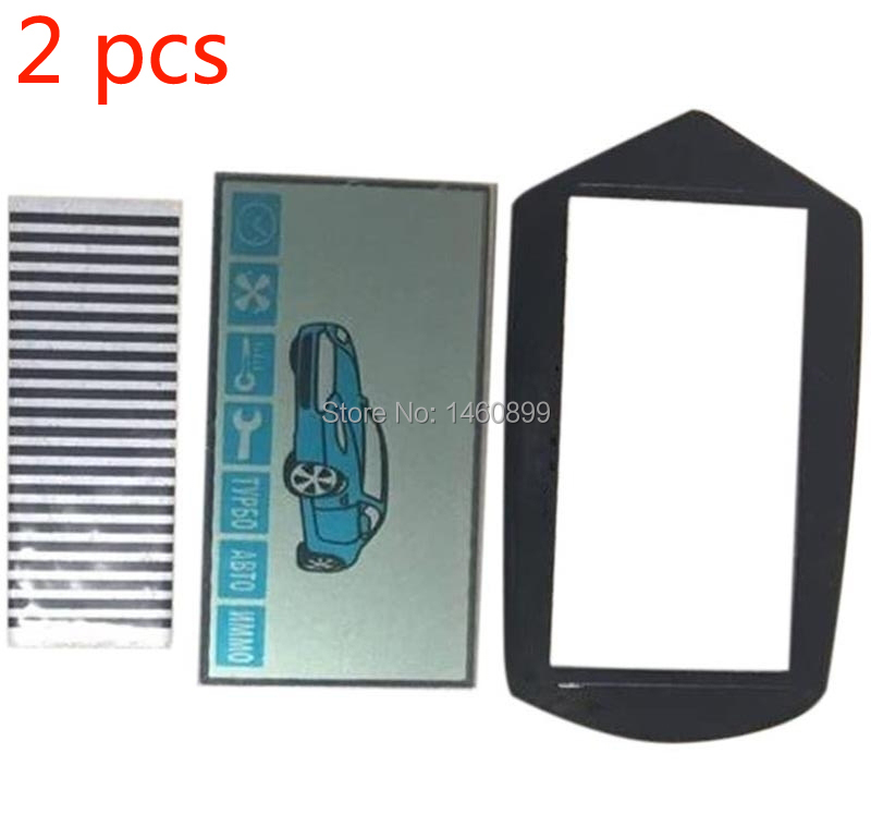 Wholesale 2pcs/lot A91 LCD Display + Key Cover For Russian 2-way Starline A91 Lcd Remote Control Key Fob With Flexible Cable