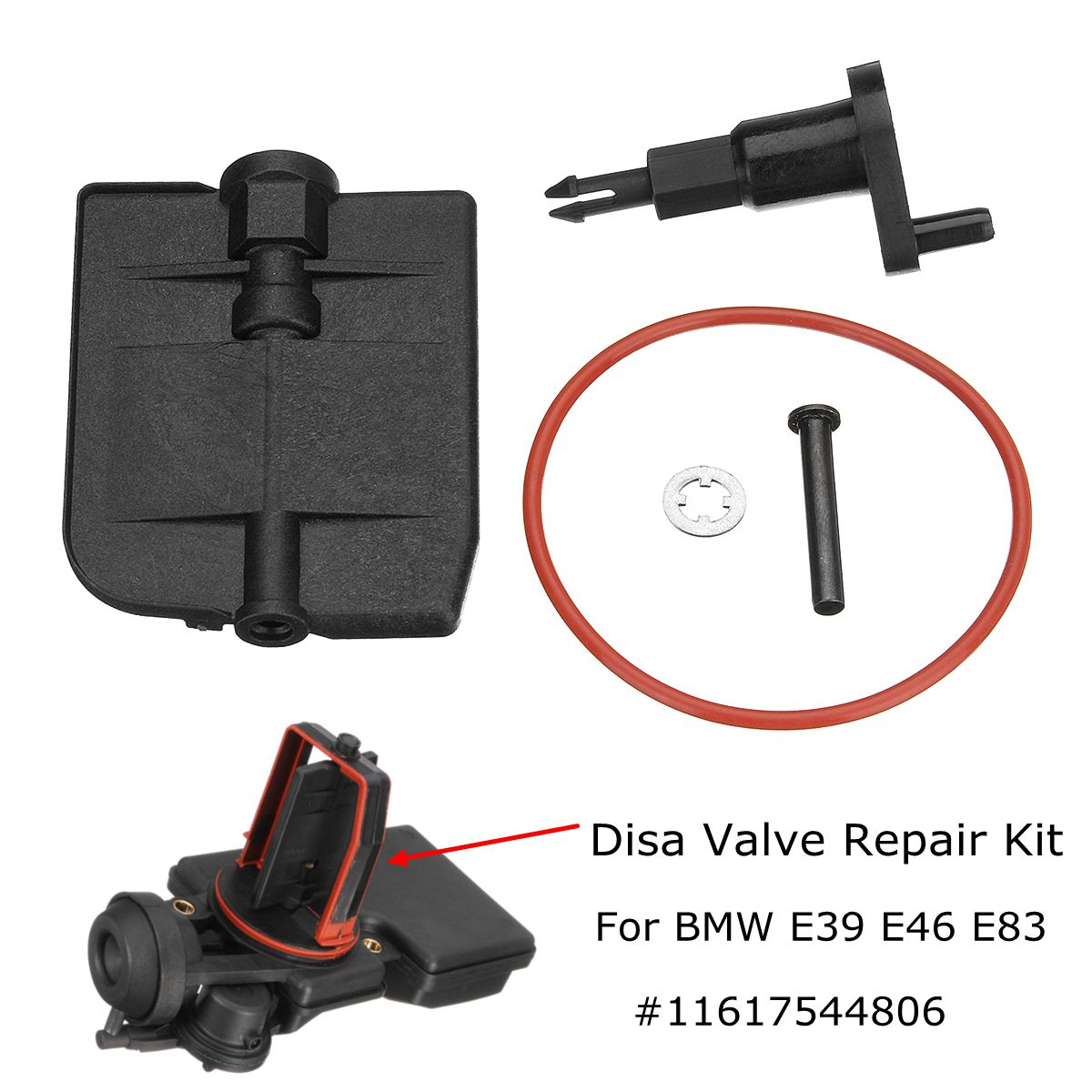 Intake Manifold DISA Valve Repair Kit 11617544806 For BMW E39 E46 E83 325i 525i M54 2.5 2001-2006