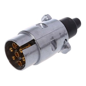 Image 1 - 7 Pin Trailer Plug Heavy Duty Round Pin 7 Pole Wiring Connector 12V Towbar Towing Caravan Truck Plug N Type Electrical Socket