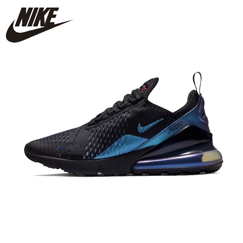 premium selection e5dca 0e028 US $75.62 62% OFF|Nike Official Air Max 270 Running Shoes Air Cushion  Breathable Anti slip Sports Sneakers# AH8050-in Running Shoes from Sports &  ...