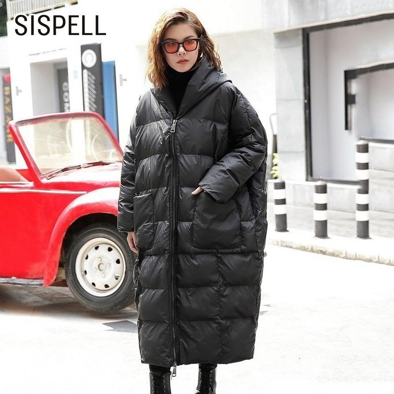 Coat Sispell gray Capuchon Oversize green Tranchée Vêtements Grande Coat Manteau Femmes À vent Lâche Manteaux Longues Coupe Manches Black Hiver Pour Taille Coat xFxrqBAw