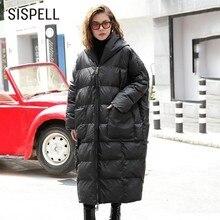 SISPELL Hooded Trench Coat For Women Loose Windbreaker Big Size Oversize Winter