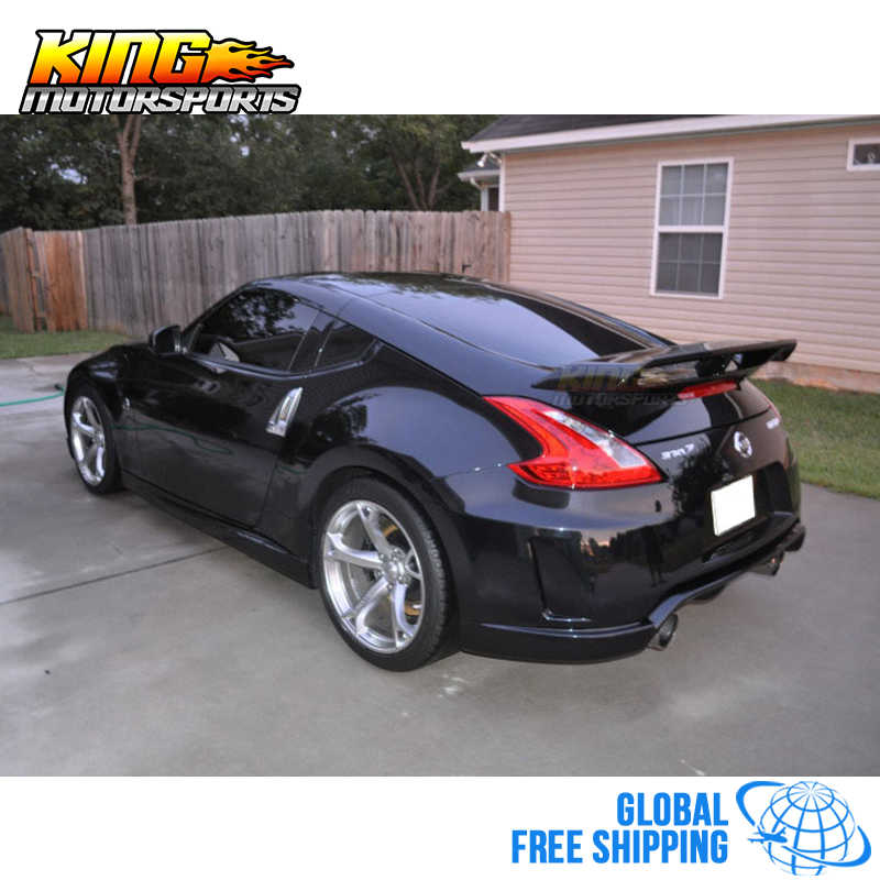Fits 09-19 Nissan 370Z Nismo Style Trunk Spoiler Unpainted Black ABS Global  Free Shipping Worldwide