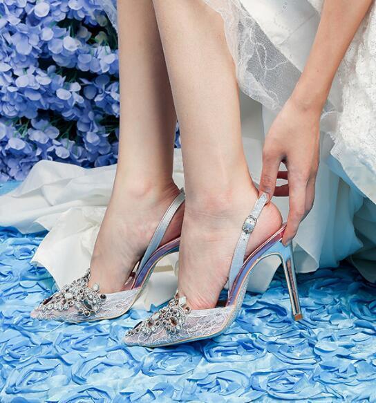 Diamante A Alto Del Strass Da Colorati Variopinto Photo Punta Diamanti Sposa Tacco As Fiore Lusso Photo as Scarpe Di Hzq4II