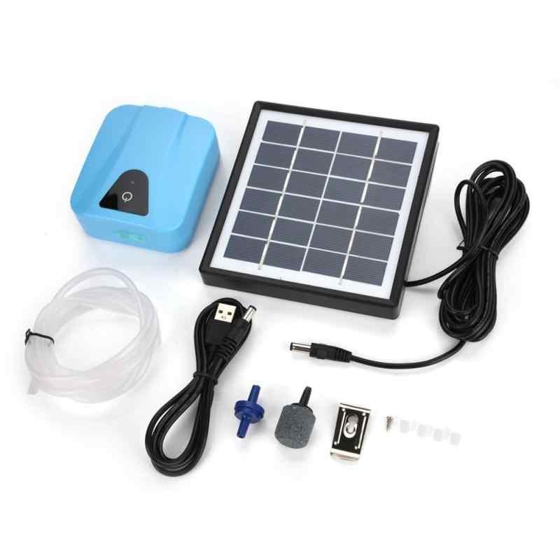 تعمل بالطاقة الشمسية حوض السمك مضخة هواء مقاوم للماء USB الأكسجين مهوية مضخة هواء بركة بركة حوض السمك الأكسجين مضخة هواء الأسماك جديد