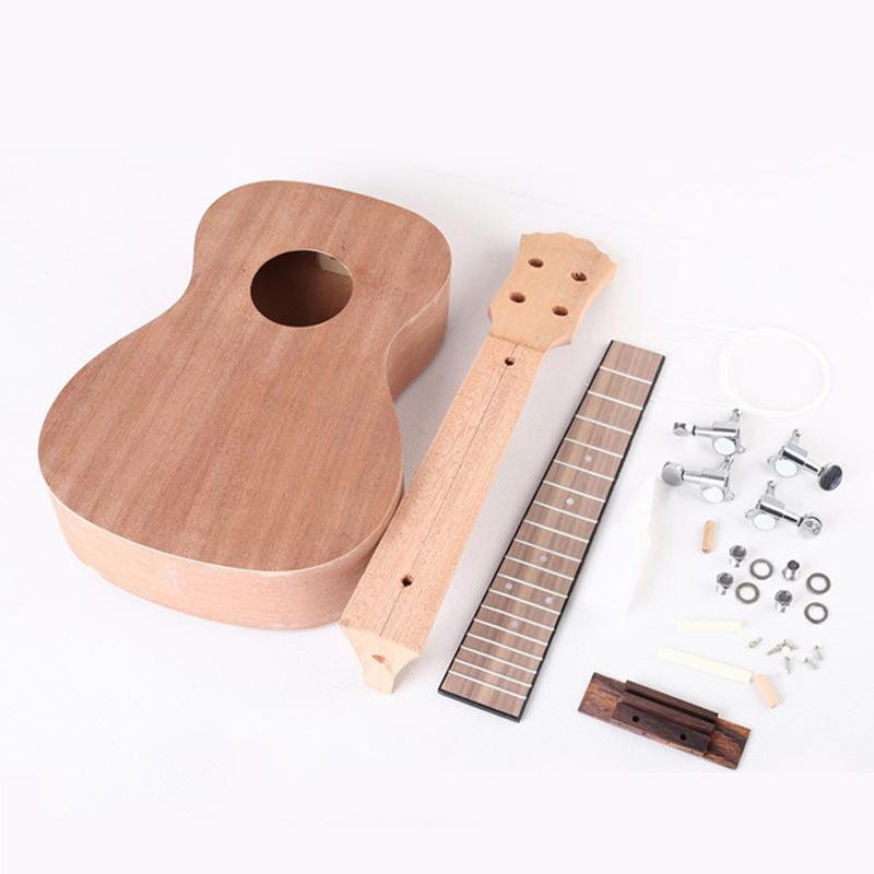 Kit ukulélé bricolage 23 pouces corps en tilleul petite guitare assemblage manuel ukulélé Instrument de musique