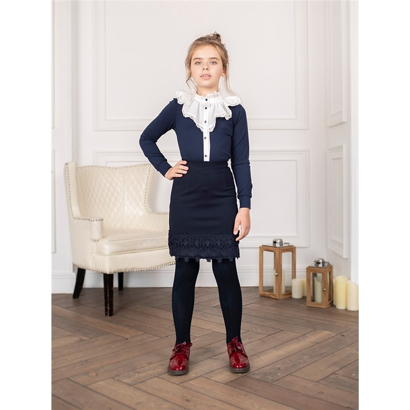Skirts Sweet Berry Knitted skirt for girls children clothing girls mixed print a line skirt