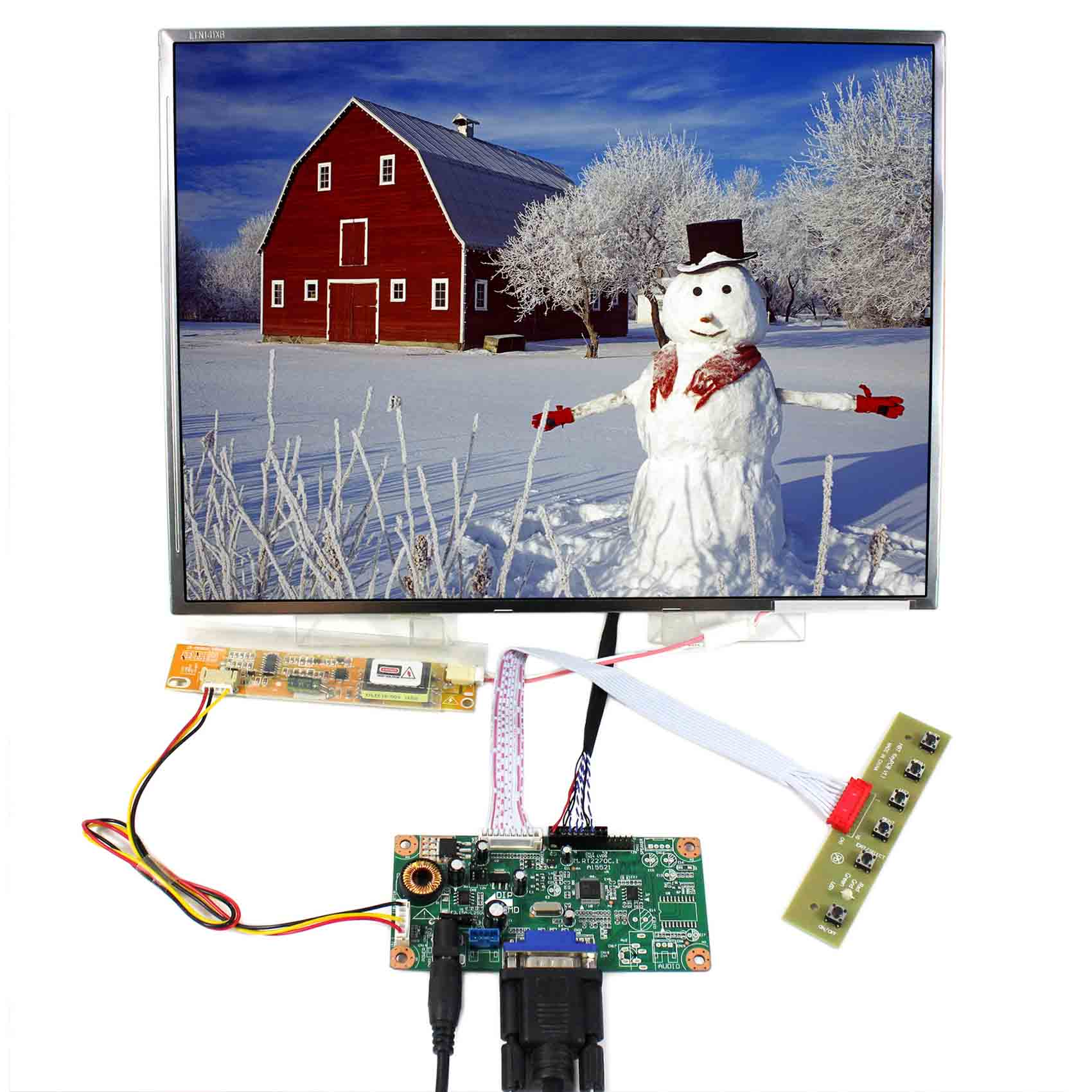 VGA LCD Controller Board 14inch 1024x768 N141X6 LTN141XF  LTN141X6 LP141X10   LCD ScreenVGA LCD Controller Board 14inch 1024x768 N141X6 LTN141XF  LTN141X6 LP141X10   LCD Screen