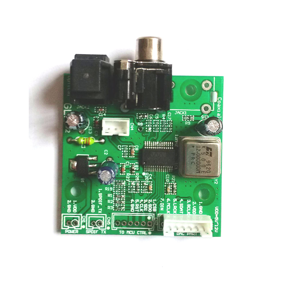 SPDIF coaxial fiber WM8805 receiver board, I2S output aligned output sampling frequency <font><b>32KHZ</b></font> ~ 192KHZ image
