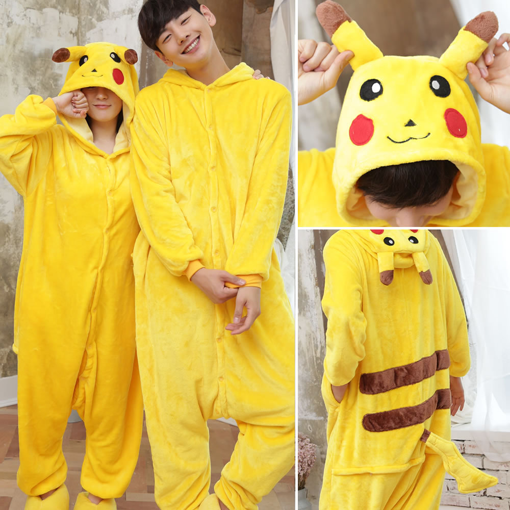 Pokemon Pizama Sexy Nightgown Pikachu Pokemon Onesie Animal Pajamas Pikachu Couple Pajamas Home Wear Kigurumi Kegurumi