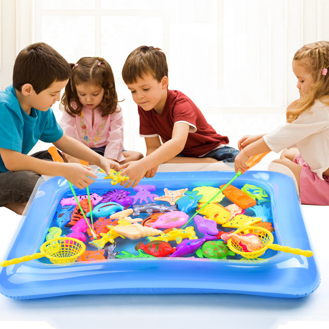 28pcs Magnetic Fishing Toys Game Educational Toys Without