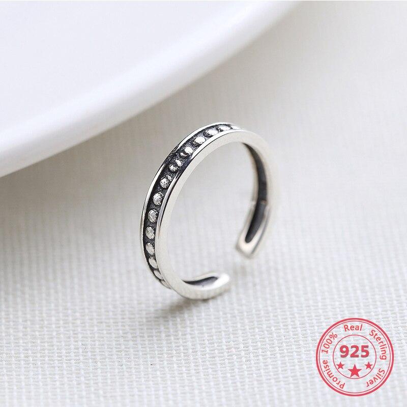 100% 925 Silber Mode Ring Fabrik Preis Minimalismus Empfindliche Offene Ring Edlen Schmuck Für Weibliche Festsetzung Der Preise Nach ProduktqualitäT