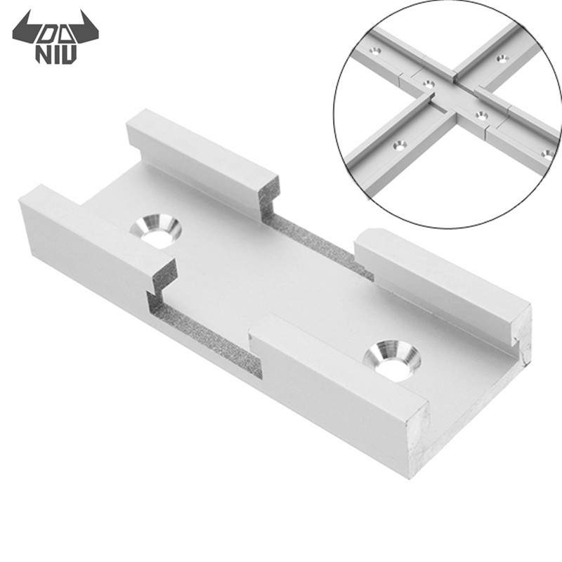 DANIU 80mm T-track Connector T-slot Miter Track Jig Fixture Slot Connector For Router Table