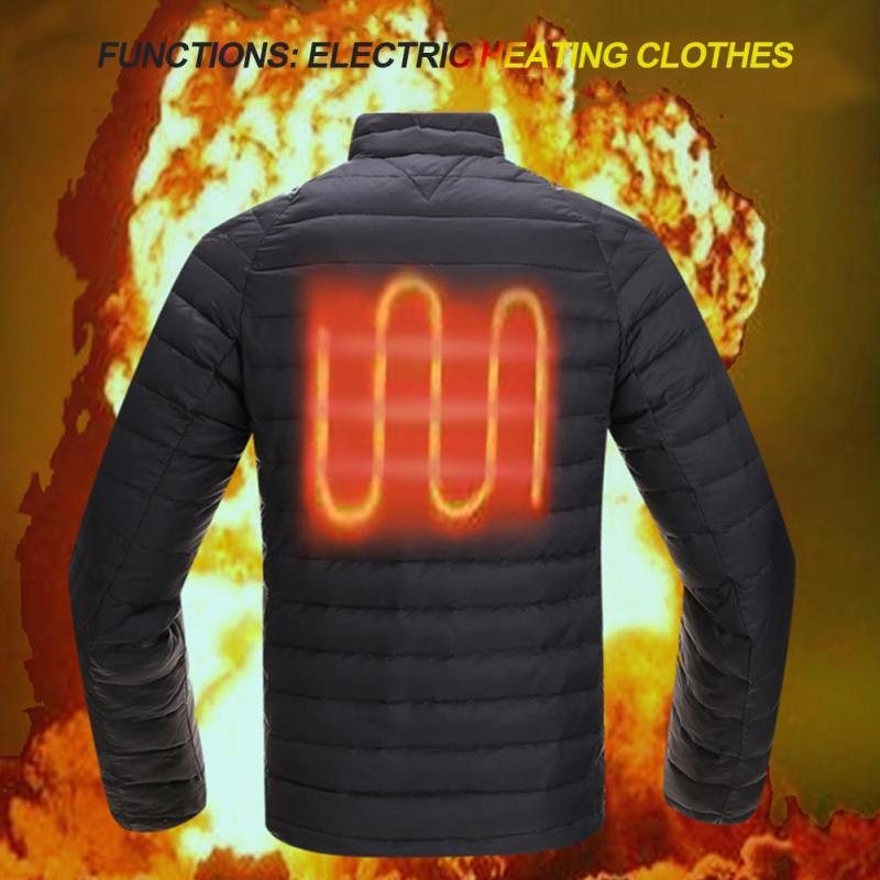 Manteau Pour Hiver Usb Léger Smart Survêtement Chaud Hommes Montant Col La Brise Coupe Randonnée De Charge vent Chauffée vent Veste vqdT7Pdnxw