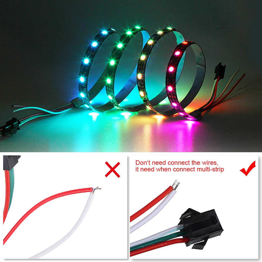 WS2811 LED ストリップライト 2811 ピクセルプログラマブル個人アドレス可能 30 ピクセル/m の 5050 SMD RGB Led ストリップ無線 Lan コントローラ