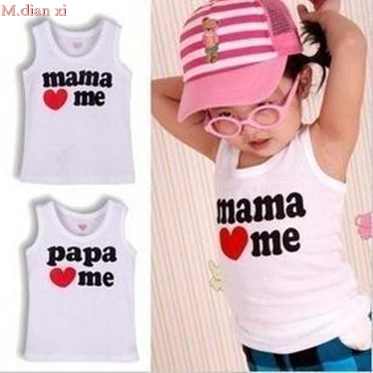 T-Shirt Cartoon Clothing Little Girl Baby Cotton Summer Love New Boy And Mom Dad For-Sale