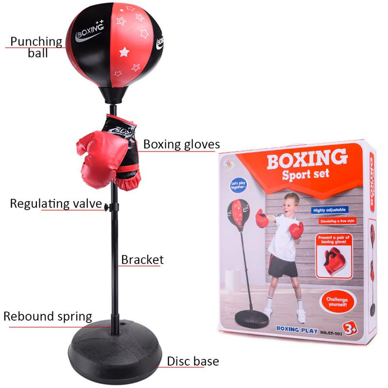 Adjustable Fitness Boxing Punch Pear Speed Ball Relaxed Boxing Bag Boxing Speed Bag For Kids Kids + Glove + Pump + Base + Poles