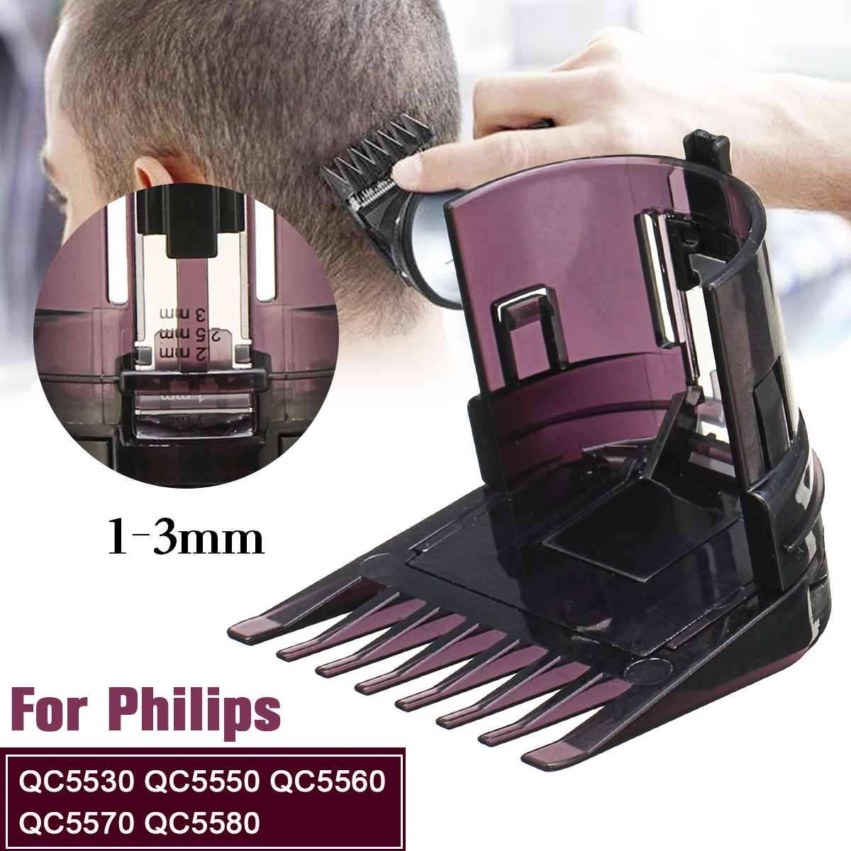 Hair Clipper Trimmer Comb For Philips COMB QC5530 QC5550 QC5560 QC5570 QC5580 1-3mm Hair Trimmer Attachment