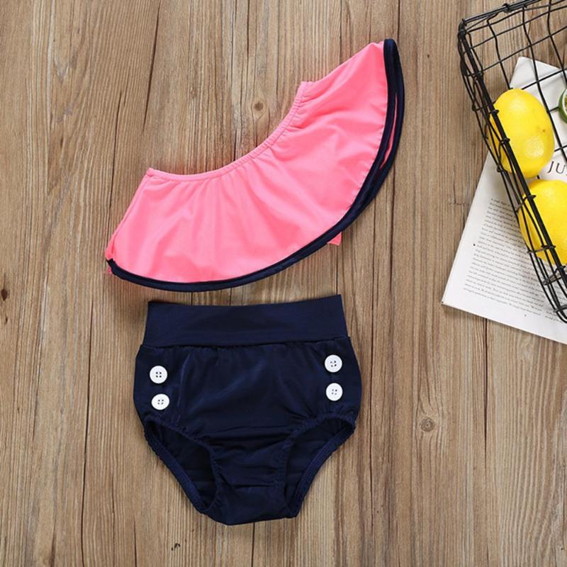 New Summer Toddler Kids Baby Girls Ruffle Bikini Set Swimsuit Swimwear Cute Swim