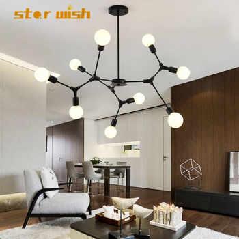 Star wish moden molecular chandelier for living room lamp bedroom lamp study dining room lamp magic bean lamp 110v 220v - DISCOUNT ITEM  38% OFF All Category